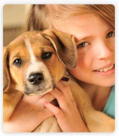 chien et fille
